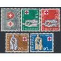 SWITZERLAND - 1957 Pro Patria set of 5, used – Michel # 641-645