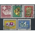 SWITZERLAND - 1958 Pro Patria set of 5, used – Michel # 657-661