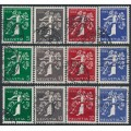 SWITZERLAND - 1939 Swiss National Expo set of 12, used – Michel # 344-355