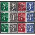 SWITZERLAND - 1939 Swiss National Expo set of 12, used – Michel # 344-355