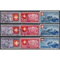 SWITZERLAND - 1939 Swiss National Expo set of 9, used – Michel # 335-343