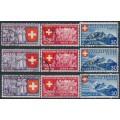 SWITZERLAND - 1939 Swiss National Expo set of 9, used – Michel # 335-343