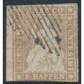 SWITZERLAND - 1854 5Rp grey-brown Sitting Helvetia (early Bern printing), used – Zumstein # 22B