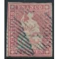 SWITZERLAND - 1854 15Rp carmine Sitting Helvetia (second Munich printing), used – Zumstein # 24A