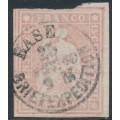 SWITZERLAND - 1860 15Rp pale rose Sitting Helvetia (late Bern printing), used – Zumstein # 24Gc