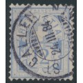 SWITZERLAND - 1882 12c ultramarine Cross & Numeral on white paper, used – Zumstein # 56