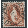 SWITZERLAND - 1895 30c brown Helvetia, perf. 11½:11, oval watermark (Kz. II), 'white Helvetia', used – Zum. # 68D