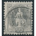 SWITZERLAND - 1894 40c grey Helvetia, p. 11½:11 (Kz. II), 'white flaw over EL', used – Zum. # 69D.2.53/I