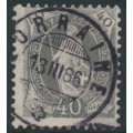 SWITZERLAND - 1882 40c grey Helvetia, perf. 11¾:11¾, oval watermark (Kz. I), used – Zum. # 69A