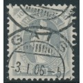 SWITZERLAND - 1904 40c bluish grey Helvetia, perf. 11¾:11¾, oval watermark (Kz. II), used – Zum. # 76F