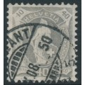 SWITZERLAND - 1907 40c grey Helvetia, perf. 11½:11, crosses watermark, granite paper, used – Zum. # 97A