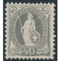 SWITZERLAND - 1894 40c grey Helvetia, perf. 11½:11, oval watermark (Kz. II), MNG – Zum. # 69D