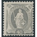SWITZERLAND - 1907 40c grey Helvetia, perf. 11½:11, crosses watermark, granite paper, MNH – Zum. # 97A