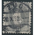 SWITZERLAND - 1891 40c grey Helvetia, perf. 11½:11, oval watermark (Kz. I), used – Zum. # 69C