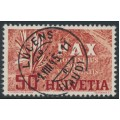 SWITZERLAND - 1945 50c red/grey Peace issue, used – Michel # 452