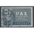SWITZERLAND - 1945 60c dark grey/grey Peace issue, used – Michel # 453