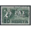 SWITZERLAND - 1945 80c green Peace issue, used – Michel # 454