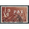 SWITZERLAND - 1945 2Fr red-brown/brown-orange Peace issue, used – Michel # 456