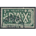 SWITZERLAND - 1945 3Fr. green Peace issue, used – Michel # 457