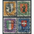 SWITZERLAND - 1923 Pro Juventute set of 4, used – Michel # 185-188
