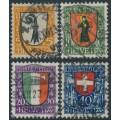 SWITZERLAND - 1923 Pro Juventute set of 4, used – Michel # 185-188