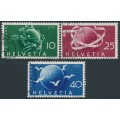 SWITZERLAND - 1949 10c to 40c UPU Anniversary set of 3, used – Michel # 522-524