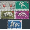 SWITZERLAND - 1950 Pro Patria set of 5, used – Michel # 545-549