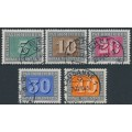 SWITZERLAND - 1945 5c to 40c Peace Issue (Pax) short set of 5, used – Michel # 447-451