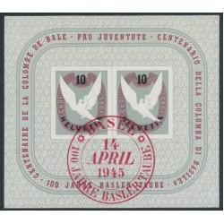 SWITZERLAND - 1945 Basler Taube (Basel Dove) Anniversary M/S, used – Michel # Block 12