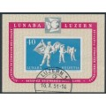 SWITZERLAND - 1951 LUNABA Stamp Exhibition M/S, used – Michel # Block 14