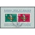 SWITZERLAND - 1959 NABAG Stamp Exhibition M/S, used – Michel # Block 16