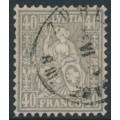 SWITZERLAND - 1878 40c grey Sitting Helvetia (Sitzende Helvetia), used – Zumstein # 42