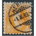SWITZERLAND - 1888 20c orange Helvetia, perf. 9¾:9¼, oval watermark (Kz. I), used – Zum. # 66B
