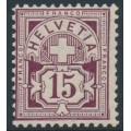 SWITZERLAND - 1906 15c brown-purple Cross & Numeral, crosses watermark, MNH – Zumstein # 85b