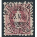 SWITZERLAND - 1888 1Fr purple Helvetia, perf. 9¾:9¼, oval watermark (Kz. I), used – Zum. # 71B