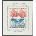 SWITZERLAND - 1938 Aarau Stamp Exhibition M/S, used – Michel # Block 4