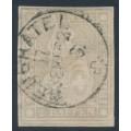 SWITZERLAND - 1862 2Rp grey Sitting Helvetia (late Bern printing), used – Zumstein # 21G