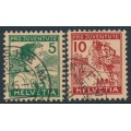 SWITZERLAND - 1915 Pro Juventute set of 3, used – Michel # 128-129