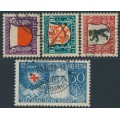 SWITZERLAND - 1928 Pro Juventute set of 4, used – Michel # 229-232