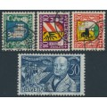 SWITZERLAND - 1930 Pro Juventute set of 4, used – Michel # 241-244