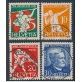 SWITZERLAND - 1932 Pro Juventute set of 4, used – Michel # 262-265