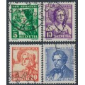 SWITZERLAND - 1935 Pro Juventute set of 4, used – Michel # 287-290