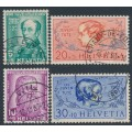 SWITZERLAND - 1937 Pro Juventute set of 4, used – Michel # 314-317