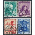 SWITZERLAND - 1938 Pro Juventute set of 4, used – Michel # 331-334