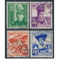 SWITZERLAND - 1939 Pro Juventute set of 4, used – Michel # 359-362