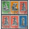 SWITZERLAND - 1940 Pro Patria set of 5, plus an extra shade, used – Michel # 364-368