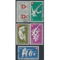 SWITZERLAND - 1950 Pro Patria set of 5, used – Michel # 545-549