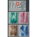 SWITZERLAND - 1952 Pro Patria set of 5, used – Michel # 570-574