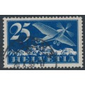 SWITZERLAND - 1923 25c deep ultramarine Airmail on smooth paper, used – Michel # 180x
