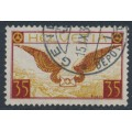 SWITZERLAND - 1929 35c brown-carmine/brown-yellow Airmail on smooth paper, used – Michel # 233x